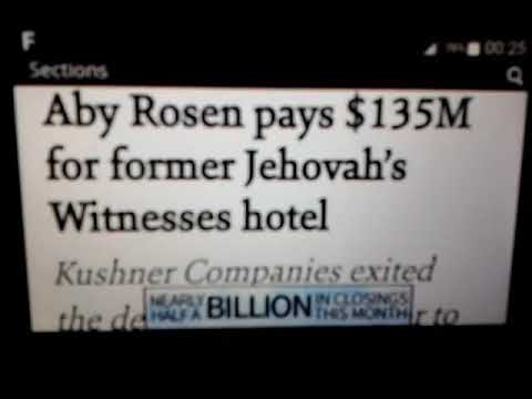 Aby Rosen pays $135M for former Jehovah's Witnesses hotel