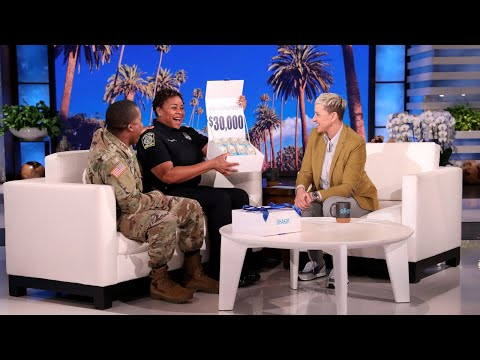 Ellen Meets Deserving Mom and Army Sergeant Son