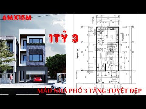 ✅ Hồ sơ  Mẫu nhà đẹp 3 tầng 6x15 | NhaPlus - Nhà Đẹp Plus
