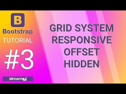 Tutorial Bootstrap #3 - Grid System RESPONSIVE  - OFFSET - HIDDEN