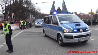 G7 GIPFEL -  Polizei Grosseinsatz in Lübeck - Einsatzfahrten