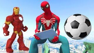 Örümcek Abi Demir Adam ile Disney infinity'de Futbol Topuyla Oynuyor