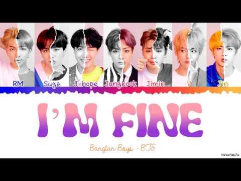 BTS (방탄소년단) - I'M FINE Lyrics [Color Coded Han_Rom_Eng]
