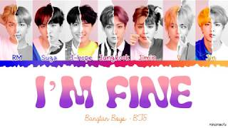 BTS (방탄소년단) - I'M FINE Lyrics [Color Coded Han_Rom_Eng]