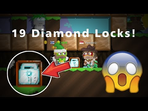 Growtopia | Worst Scammer Ever! [19 Diamond Locks Dropped!]