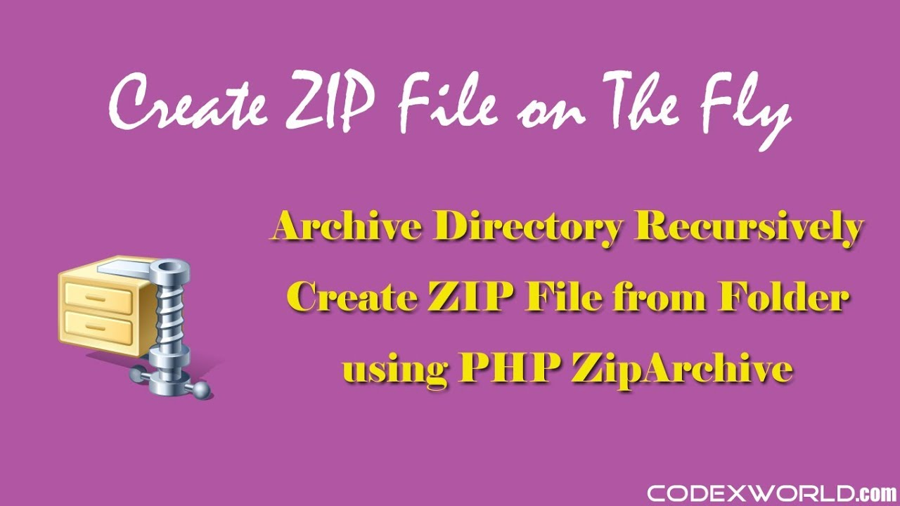 Create ZIP File using PHP