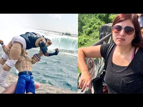 EMBARRASSING HUSBAND TRIES TO THROW WWE TOYS OVER NIAGARA FALLS!