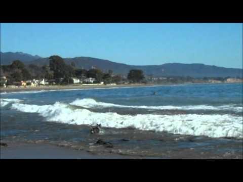 Surfing in Santa Barbara, California
