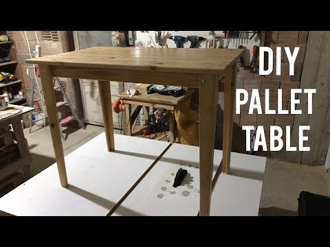 Paletten Masa Yapımı // DIY // Making A Table From Pallet