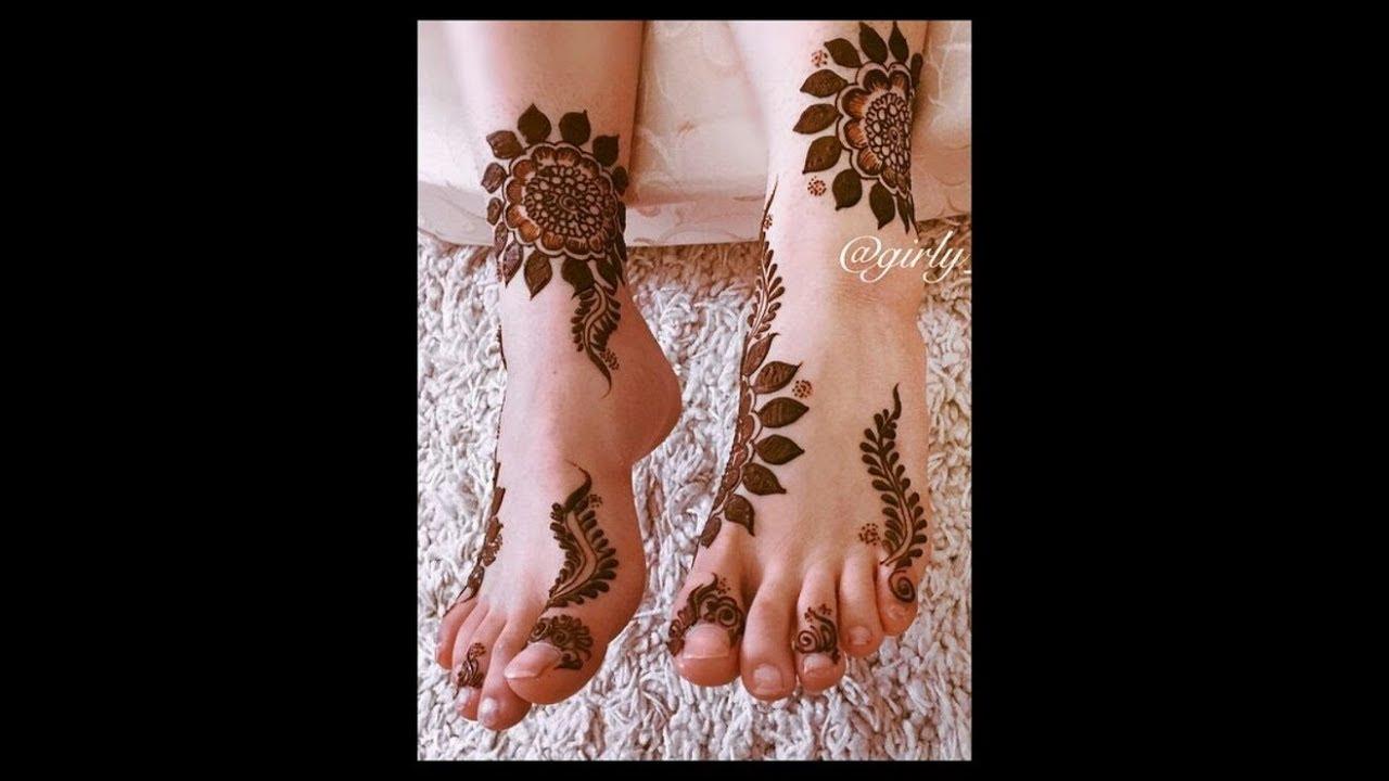 Khaliji Dubai Henna Mehndi Designs On Hands And Feet Simple