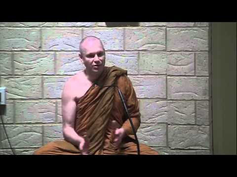 Ajahn Brahmali answers questions during meditation retreat