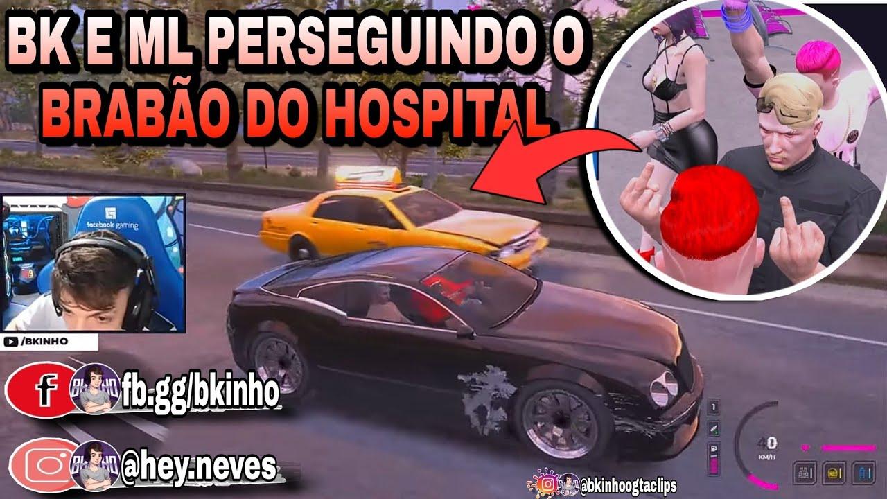 Bkinho CLIPS   BK E ML PERSEGUEM OS CARAS DO HOSPITAL • GTA RP CIDADE HYPE