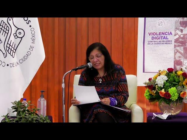Discurso de Presidenta de CDHCM, presentación de Informe Violencia Digital contra las mujeres