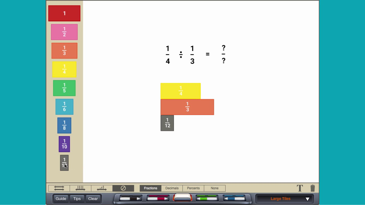 Dividing Fractions  With Fraction Tiles