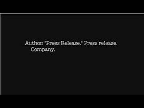 Research Papers : How to Cite a Press Release in MLA Format