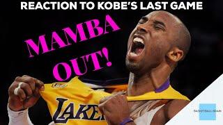 Kobe's Last Game (REACTION)