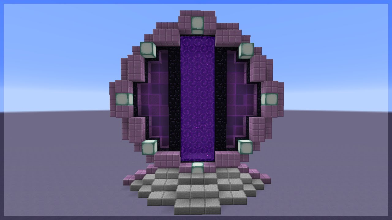 Build Gate To Nether Minecraft