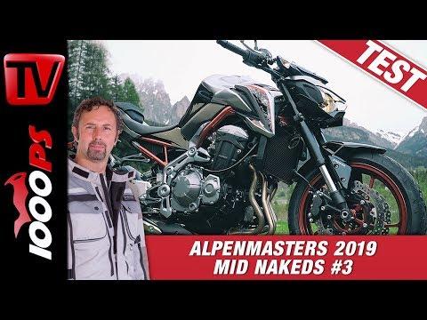 Kawasaki Z900 im Alpenmasters Test - Vergleich - Naked Bike Mittelklasse 3/4
