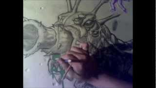 LEAGUE OF LEGENDS KOG MAW DRAWING on The Wall