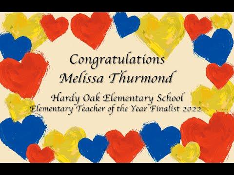 Melissa Thurmond, Hardy Oak Elementary School, Elementary Teacher of the Year 2022