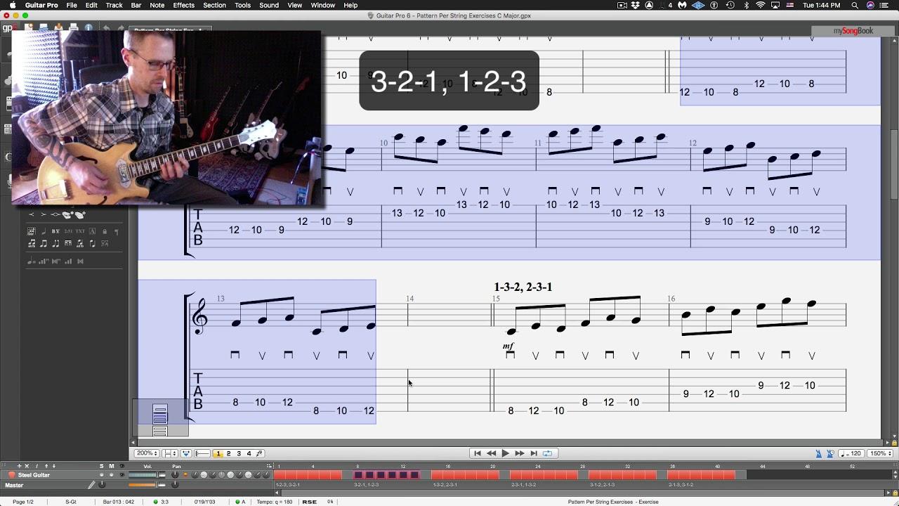 "Guitar Lesson: ""Pattern Per String"" Exercises"