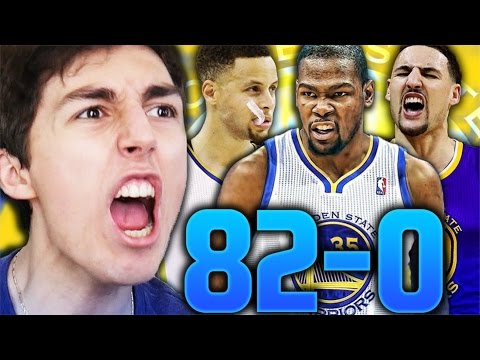 82-0 CHALLENGE - GOLDEN STATE WARRIORS WITH KEVIN DURANT! NBA 2K17 MY LEAGUE