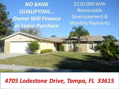 Owner Will Finance No Banks Required On This Recently Updated Tampa Home