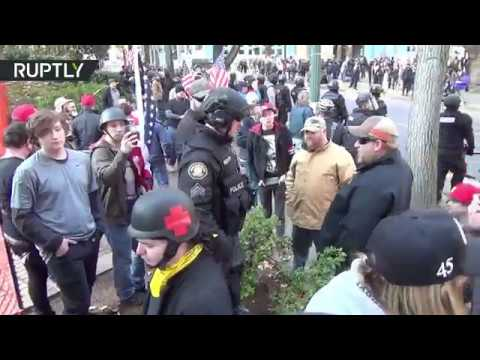 Clashes break out between Antifa and far-right Patriot Prayer in Portland