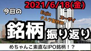 【相場振り返りシリーズ#205】2021年6月18日(金)~めちゃんこ素直なIPO銘柄!?~