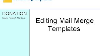 Editing Mail Merge Templates in DONATION