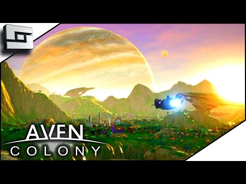SCI-FI CITY BUILDER! - Aven Colony Gameplay Ep 1 | Sl1pg8r