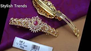 Latest 1 gm gold Hair clips wi…