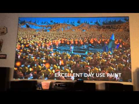 Black Projector projection screen (Az Black Pearl Paint) Epson 3500 / 3600e home theater DIY