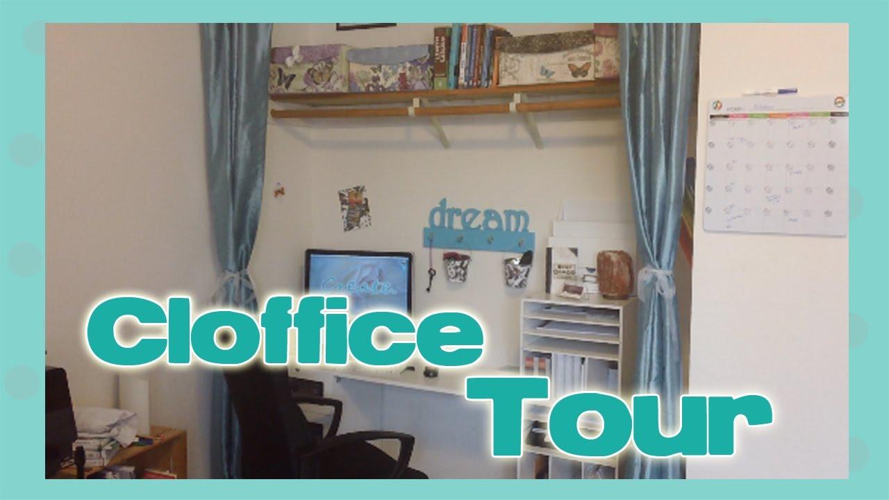 closet to office. SIMPLE CLOFFICE TOUR (Closet Office) Closet To Office