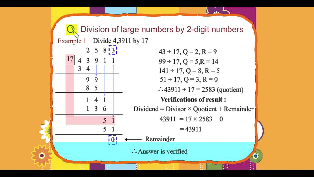 Explore Math Class 4, Unit 04, 04 Division of large numbers by 2-digit  numbers