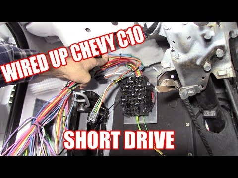 Wiring Up The Chevy C10/And A Short Drive