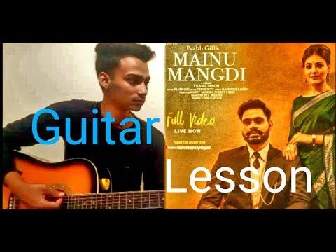 Mainu mangdi song Guitar lesson || prabh gill || easy guitar lesson || Guitar Strings