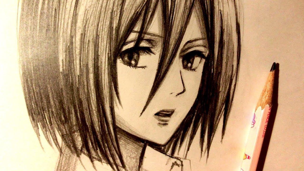 Asmr pencil drawing 85 mikasa request