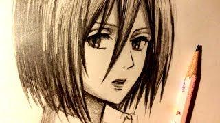ASMR | Pencil Drawing 85 | Mikasa (Request)