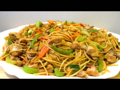 Chicken lo mein recipe mongolian bbq style youtube forumfinder Images