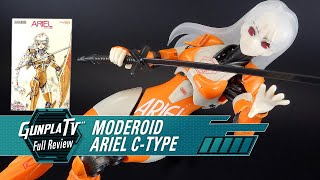 Dave takes a look at another Good Smile Company kit this time: Ariel, from the Moderoid Line. Based of Yuichi Sasamoto's sci-fi novel 'ARIEL,' this mecha ...