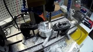 Video Proxxon FF500 CNC  Фрезеровка пазов в круглой детали