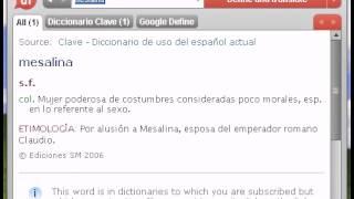 Definición de mesalina