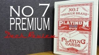 No.7 Premium Brand - Platinum Plus - Playing Cards - Review