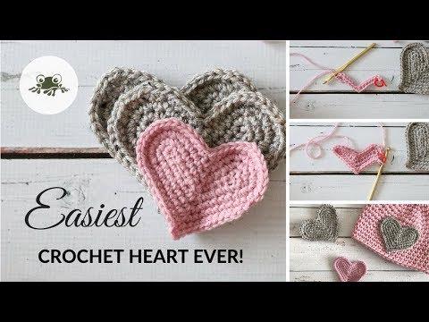 Super Easy Crochet Heart Tutorial