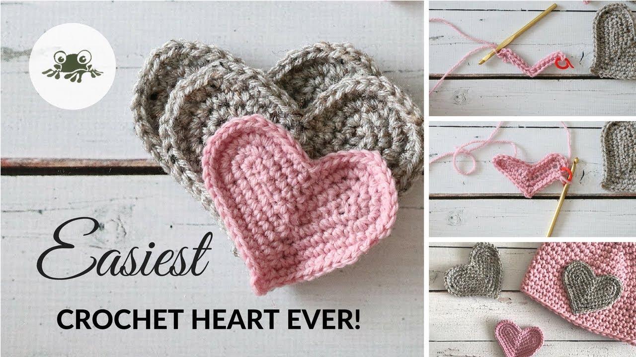 Super Easy Crochet Heart Tutorial Youtube