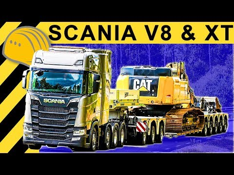 110 Tonnen! SCANIA XT Premiere & SCANIA S730 V8 Schwerlast-Kombi Testfahrt auf Scania Teststrecke