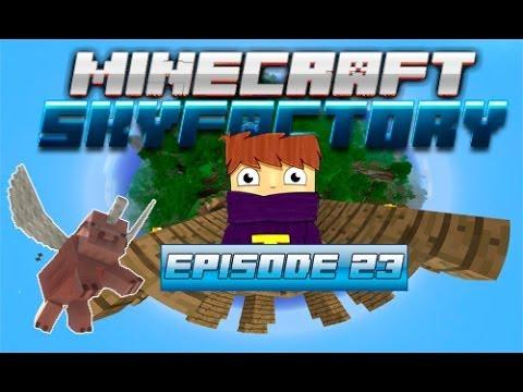 Minecraft - Sky factory #23 - Железный молот (Hammer) [Tinkers Construct] /  Блоки удачи,