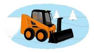 Мультик  - Раскраска про рабочие машины - Снегоуборочная техника thumbnail