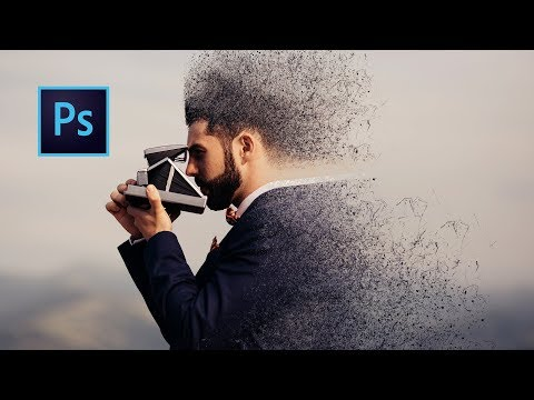 Dispersion Effect Using Brush | Photoshop Tutorial
